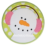 Snowman Circle Applique