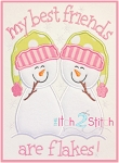 Snowman Friends are Flakes Applique