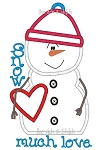 Snowman Love Applique