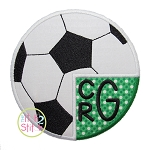 Soccer Monogram Applique