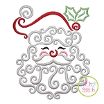 Swirly Santa Face Embroidery