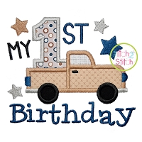 My 1st Birthday Truck Applique