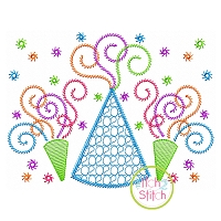 2020 Party Hat Horns Motif Embroidery