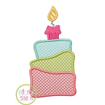 3 Tiered Cake Applique
