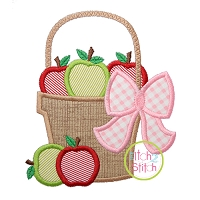 Apple Basket Applique