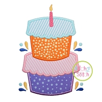 Birthday Cake Applique Design
