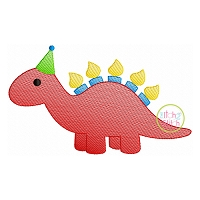 Birthday Stegosaurus Sketch