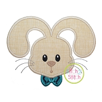 Bunny Face Boy Applique