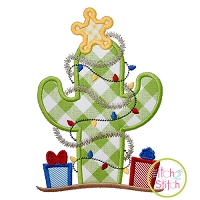 Cactus Christmas Tree Applique