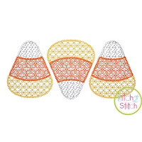 Candy Corn Trio Motif Embroidery