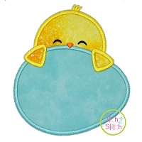 Chick Egg Peeker Boy Applique