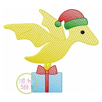 Christmas Pterodactyl Sketch