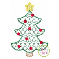 Christmas Tree Motif Embroidery