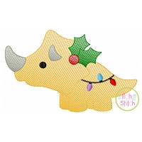 Christmas Triceratops Sketch