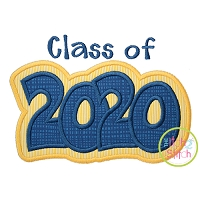 Class of 2020 Double Applique