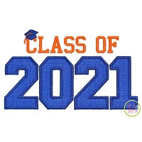 Class of 2021 Applique Design Set