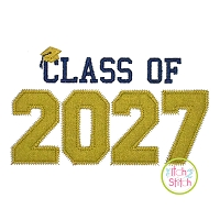 Class of 2027 Applique Design Set