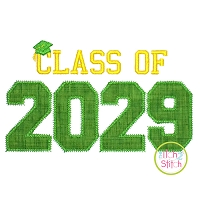Class of 2029 Applique Design Set