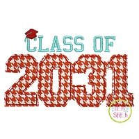 Class of 2031 Applique Design Set