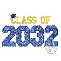 Class of 2032 Applique Design Set