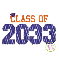 Class of 2033 Applique Design Set