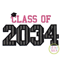 Class of 2034 Applique Design Set