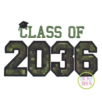 Class of 2036 Applique Design Set