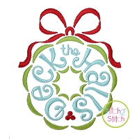 Deck the Halls Wreath Embroidery