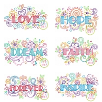 Doodlicious Embroidery Design Set