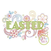 Easter Doodle Embroidery Design