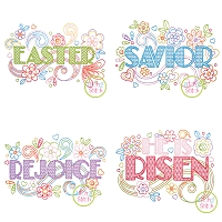 Easter Doodlicious Embroidery Design Set