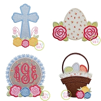 Easter Roses Applique Design Set