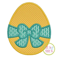 Egg Big Bow Applique