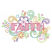 Faith Doodle Embroidery Design