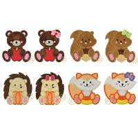 Fall Animals Applique Design Set