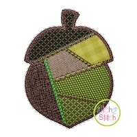Fancy Patchwork Acorn Applique