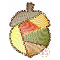 Fancy Patchwork Acorn Sketch Embroidery