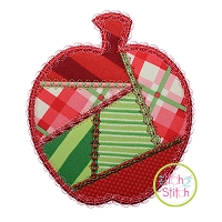 Fancy Patchwork Apple Applique