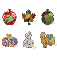 Fancy Patchwork Fall Applique Design Set
