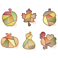 Fancy Patchwork Fall Sketch Design Set