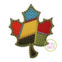 Fancy Patchwork Leaf Applique