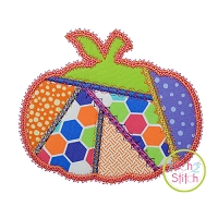 Fancy Patchwork Pumpkin Applique