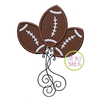 Football Balloons Applique
