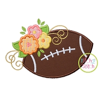 Football Flowers Applique