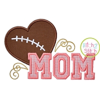 Football Mom 2 Applique
