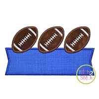 Football Trio Banner Applique Design