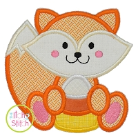 Fox Candy Corn Boy Applique