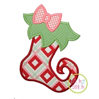 Funky Girl Stocking Applique