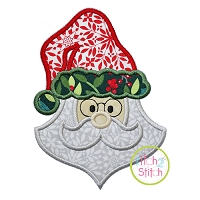 Funky Santa Face Applique