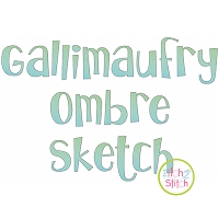 Gallimaufry Ombre Sketch Embroidery Font
